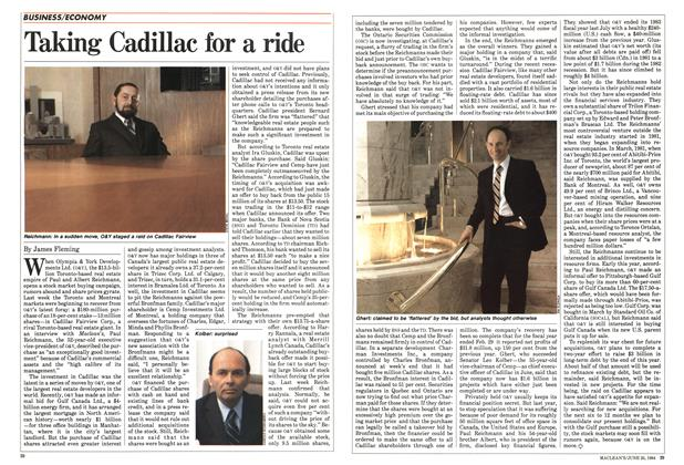 Article Preview: Taking Cadillac for a ride, June 1984 | Maclean's