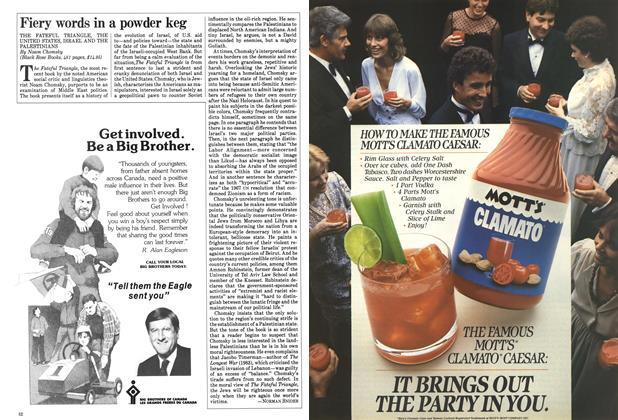 Article Preview: Fiery words in a powder keg, June 1984 | Maclean's