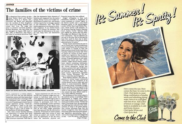 Article Preview: The families of the victims of crime, June 1984 | Maclean's