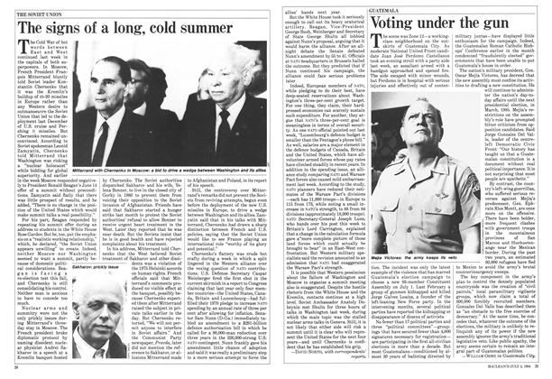 Article Preview: The signs of a long, cold summer, July 1984 | Maclean's