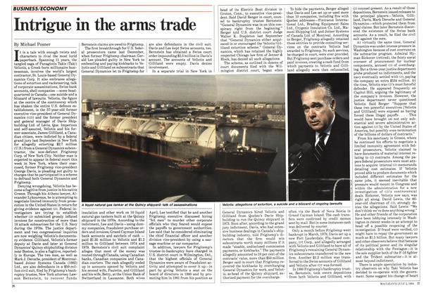Article Preview: Intrigue in the arms trade, July 1984 | Maclean's