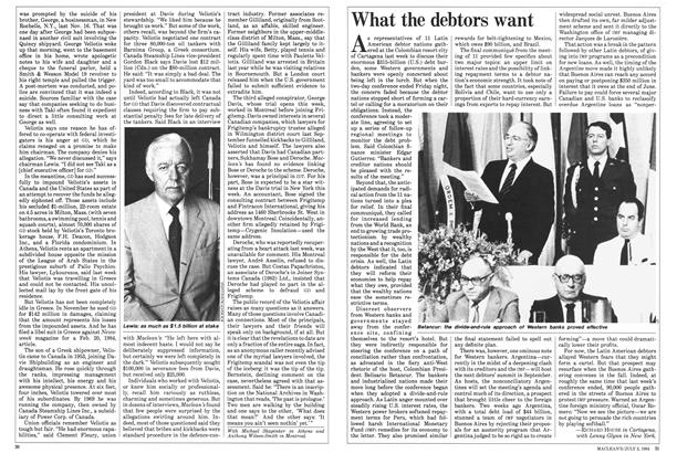 Article Preview: What the debtors want, July 1984 | Maclean's