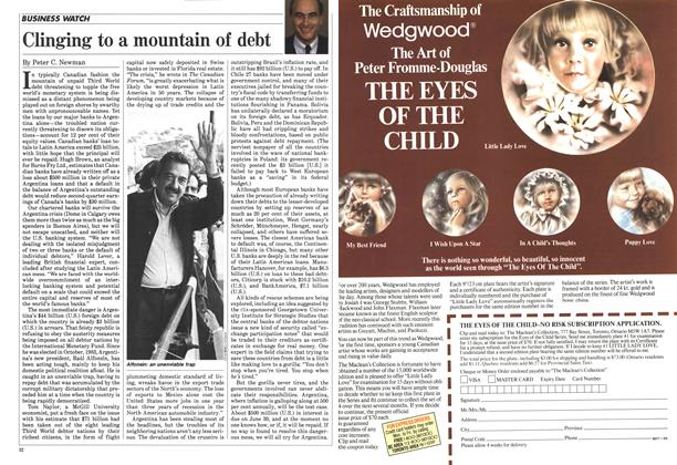 Article Preview: Clinging to a mountain of debt, July 1984 | Maclean's