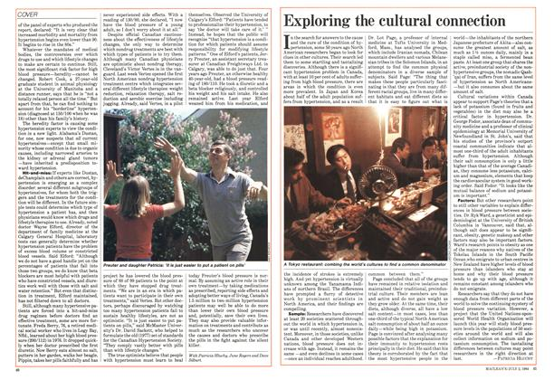 Article Preview: Exploring the cultural connection, July 1984 | Maclean's