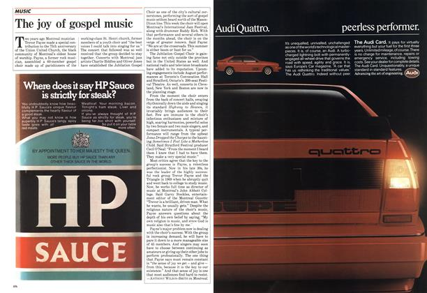 Article Preview: The joy of gospel music, July 1984 | Maclean's