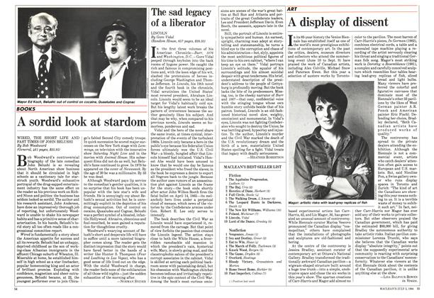 Article Preview: A sordid look at stardom, July 1984 | Maclean's