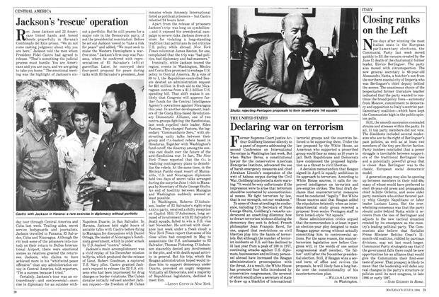 Article Preview: Jackson's 'rescue' operation, JULY 9,1984 1984 | Maclean's