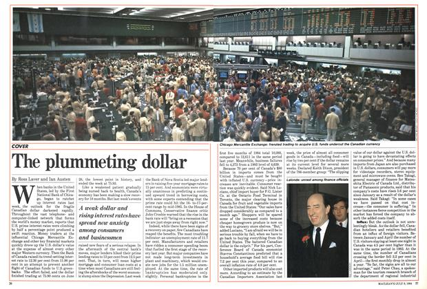 Article Preview: The plummeting dollar, JULY 9,1984 1984 | Maclean's