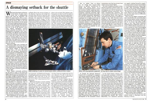 Article Preview: A dismaying setback for the shuttle, JULY 9,1984 1984 | Maclean's