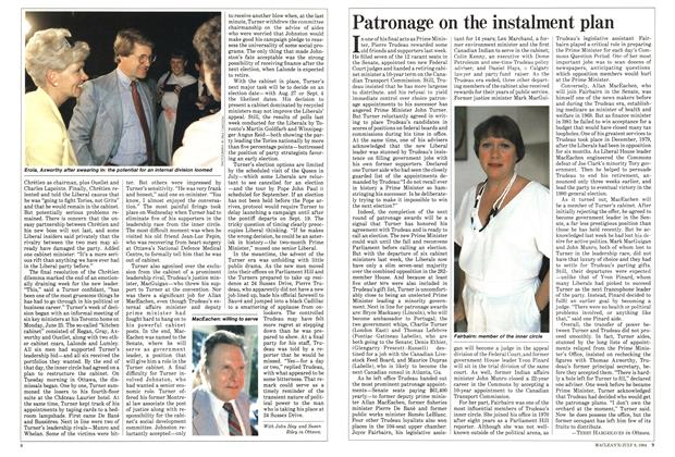 Article Preview: Patronage on the instalment plan, JULY 9,1984 1984 | Maclean's
