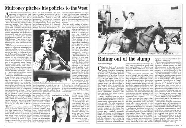 Article Preview: Riding out of the slump, July 1984 | Maclean's