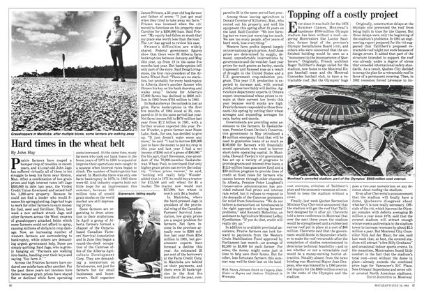 Article Preview: Hard times in the wheat belt, July 1984 | Maclean's