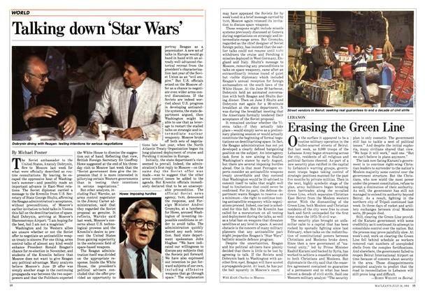 Article Preview: Talking down 'Star Wars', July 1984 | Maclean's
