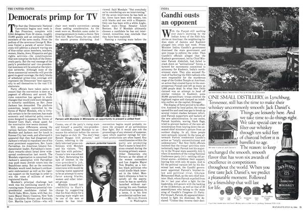 Article Preview: Democrats primp for TV, July 1984 | Maclean's
