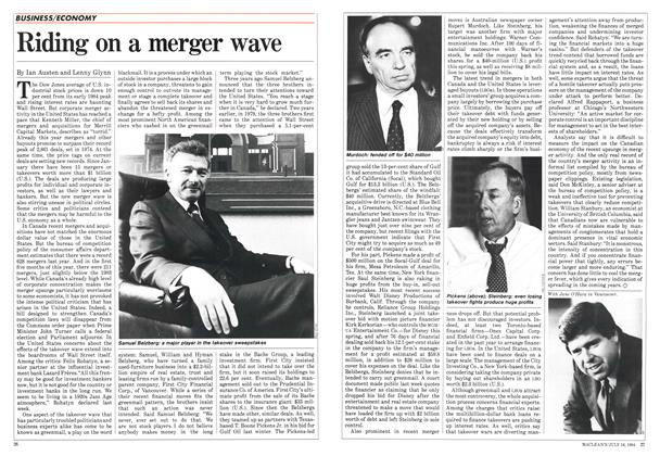 Article Preview: Riding on a merger wave, July 1984 | Maclean's