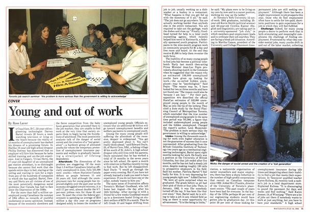 Article Preview: Young and out of work, July 1984 | Maclean's