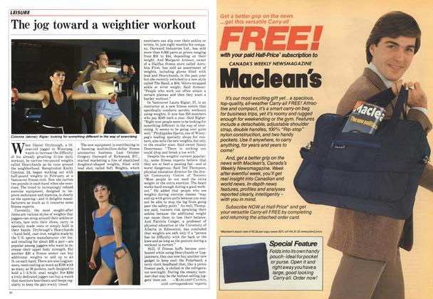 Article Preview: The jog toward a weightier workout, July 1984 | Maclean's