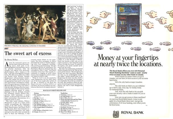 Article Preview: The sweet art of excess, July 1984 | Maclean's
