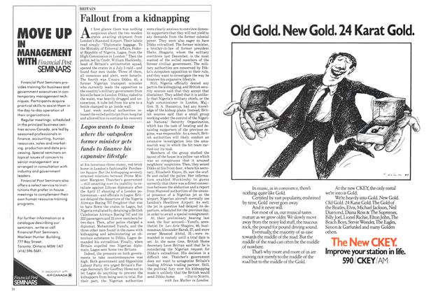 Article Preview: Fallout from a kidnapping, July 1984 | Maclean's