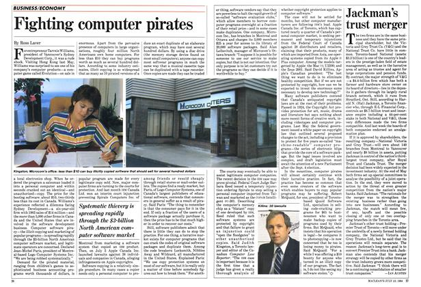 Article Preview: Fighting computer pirates, July 1984 | Maclean's