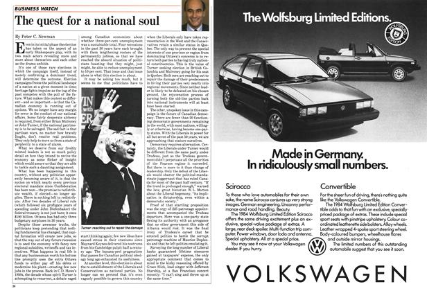 Article Preview: The quest for a national soul, July 1984 | Maclean's