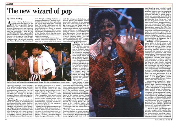 Article Preview: The new wizard of pop, July 1984 | Maclean's