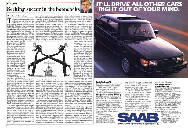 Article Preview: Seeking succor in the boondocks, July 1984 | Maclean's