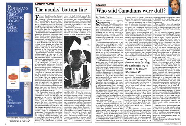 Article Preview: The monks' bottom line, July 1984 | Maclean's
