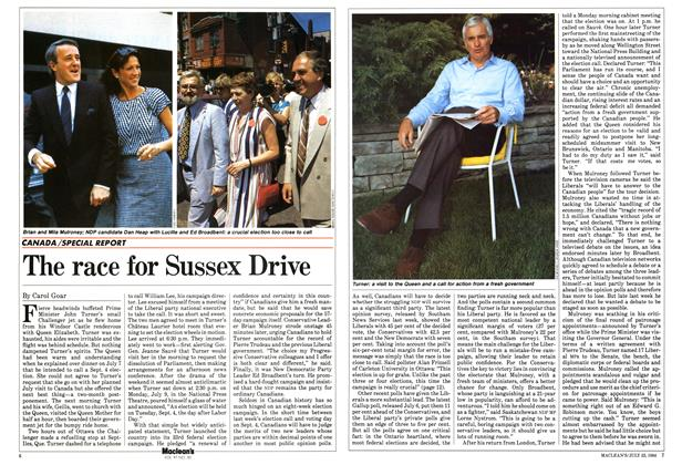 Article Preview: The race for Sussex Drive, July 1984 | Maclean's