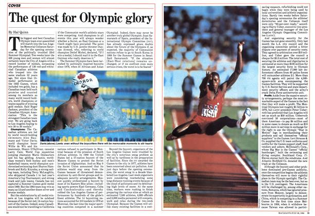 Article Preview: The quest for Olympic glory, July 30 1984 | Maclean's