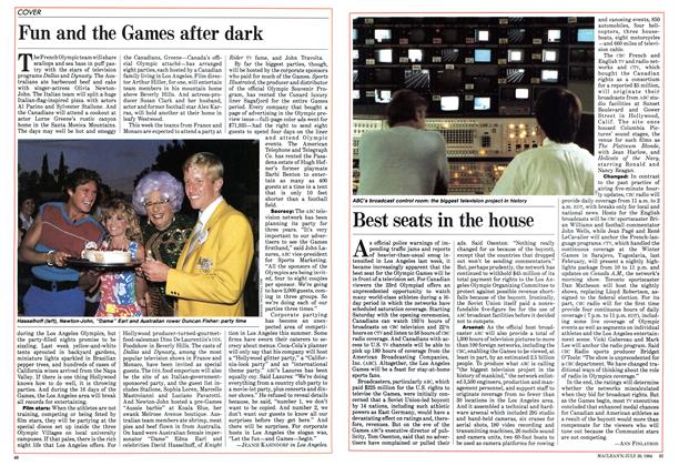 Article Preview: Best seats in the house, July 30 1984 | Maclean's