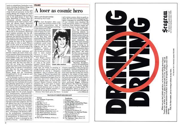 Article Preview: A loser as cosmic hero, July 30 1984 | Maclean's