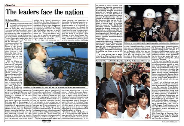 Article Preview: The leaders face the nation, July 30 1984 | Maclean's