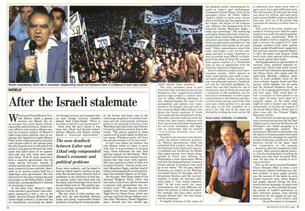 Article Preview: After the Israeli stalemate, August 1984 | Maclean's