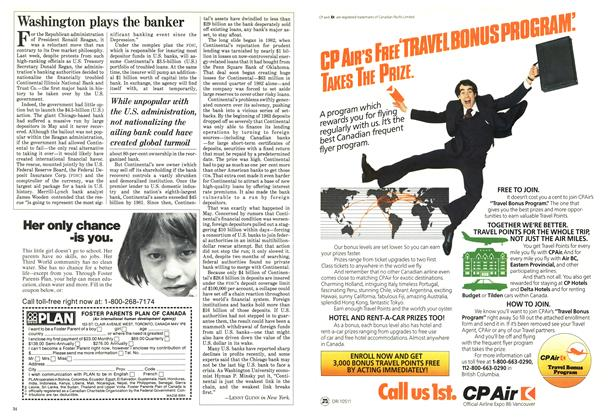 Article Preview: Washington plays the banker, August 1984 | Maclean's