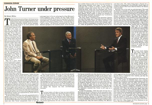 Article Preview: John Turner under pressure, August 1984 | Maclean's