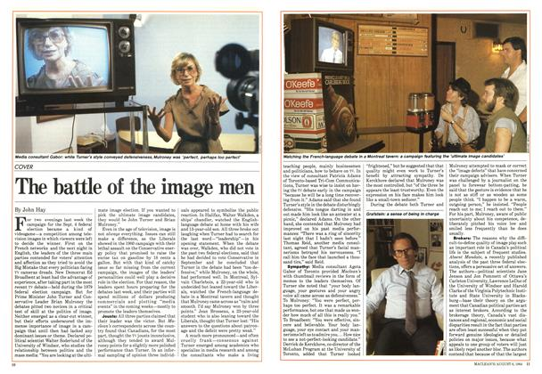 Article Preview: The battle of the image men, August 1984 | Maclean's