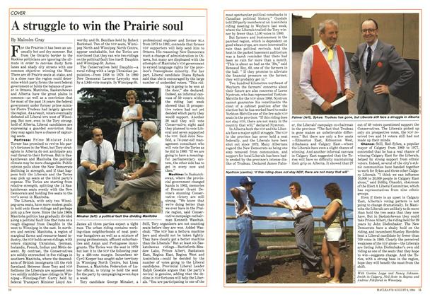 Article Preview: A struggle to win the Prairie soul, August 1984 | Maclean's