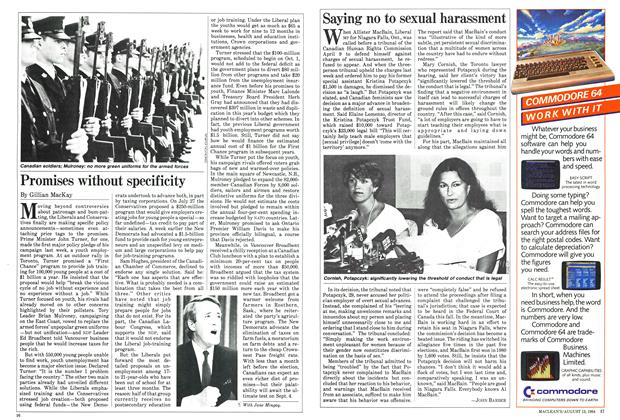 Article Preview: Saying no to sexual harassment, August 1984 | Maclean's