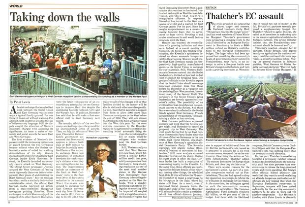 Article Preview: Taking down the walls, August 1984 | Maclean's