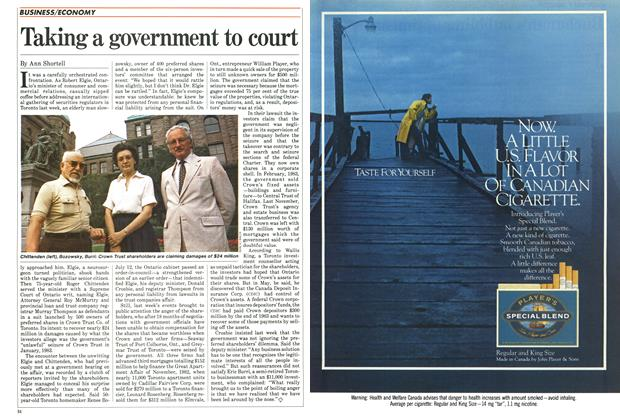 Article Preview: Taking a government to court, August 1984 | Maclean's