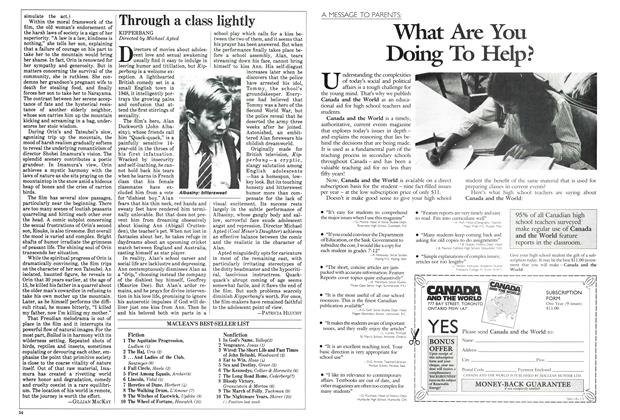 Article Preview: Through a class lightly, August 1984 | Maclean's