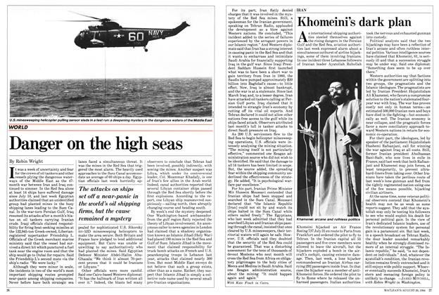 Article Preview: Danger on the high seas, August 1984 | Maclean's