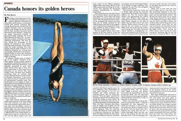 Article Preview: Canada honors its golden heroes, August 1984 | Maclean's