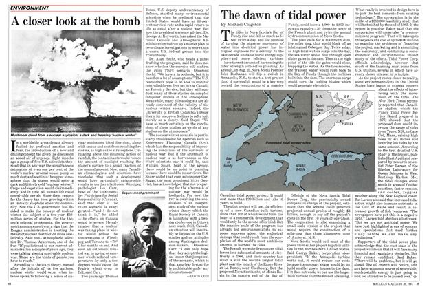 Article Preview: A closer look at the bomb, August 1984 | Maclean's
