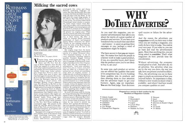 Article Preview: Milking the sacred cows, August 1984 | Maclean's