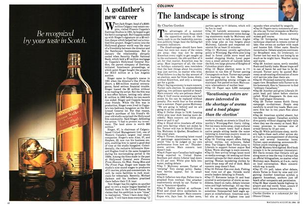 Article Preview: The landscape is strong, August 1984 | Maclean's