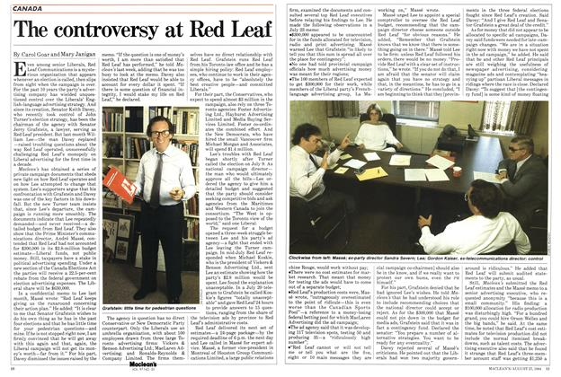 Article Preview: The controversy at Red Leaf, August 1984 | Maclean's