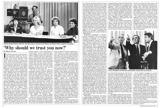 Article Preview: 'Why should we trust you now?', August 1984 | Maclean's