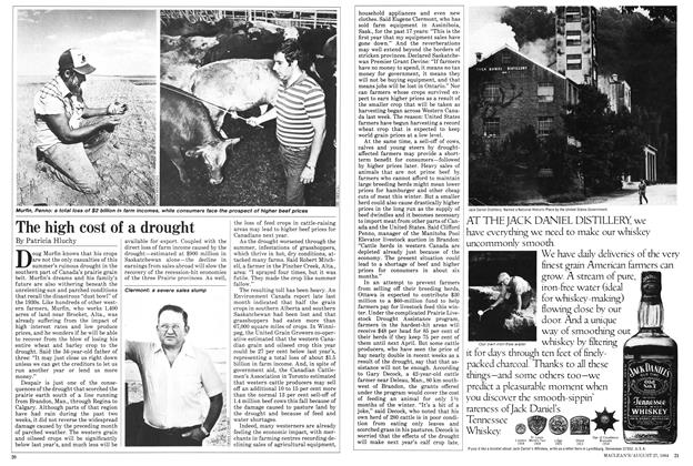 Article Preview: The high cost of a drought, August 1984 | Maclean's